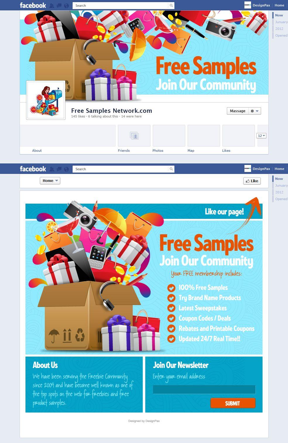 sample facebook page