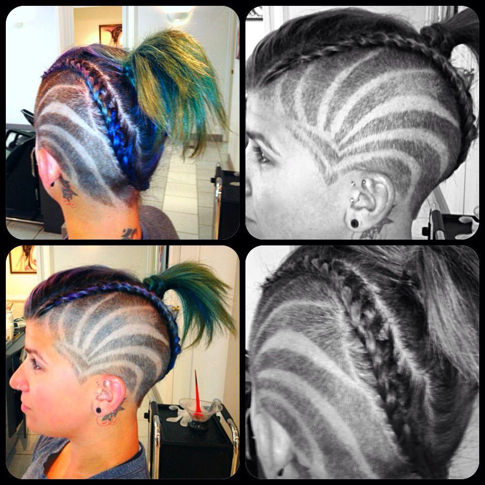 Wondrous My Hair Shaved Head Design Blue Purple Green Vanity Insanity Short Hairstyles For Black Women Fulllsitofus