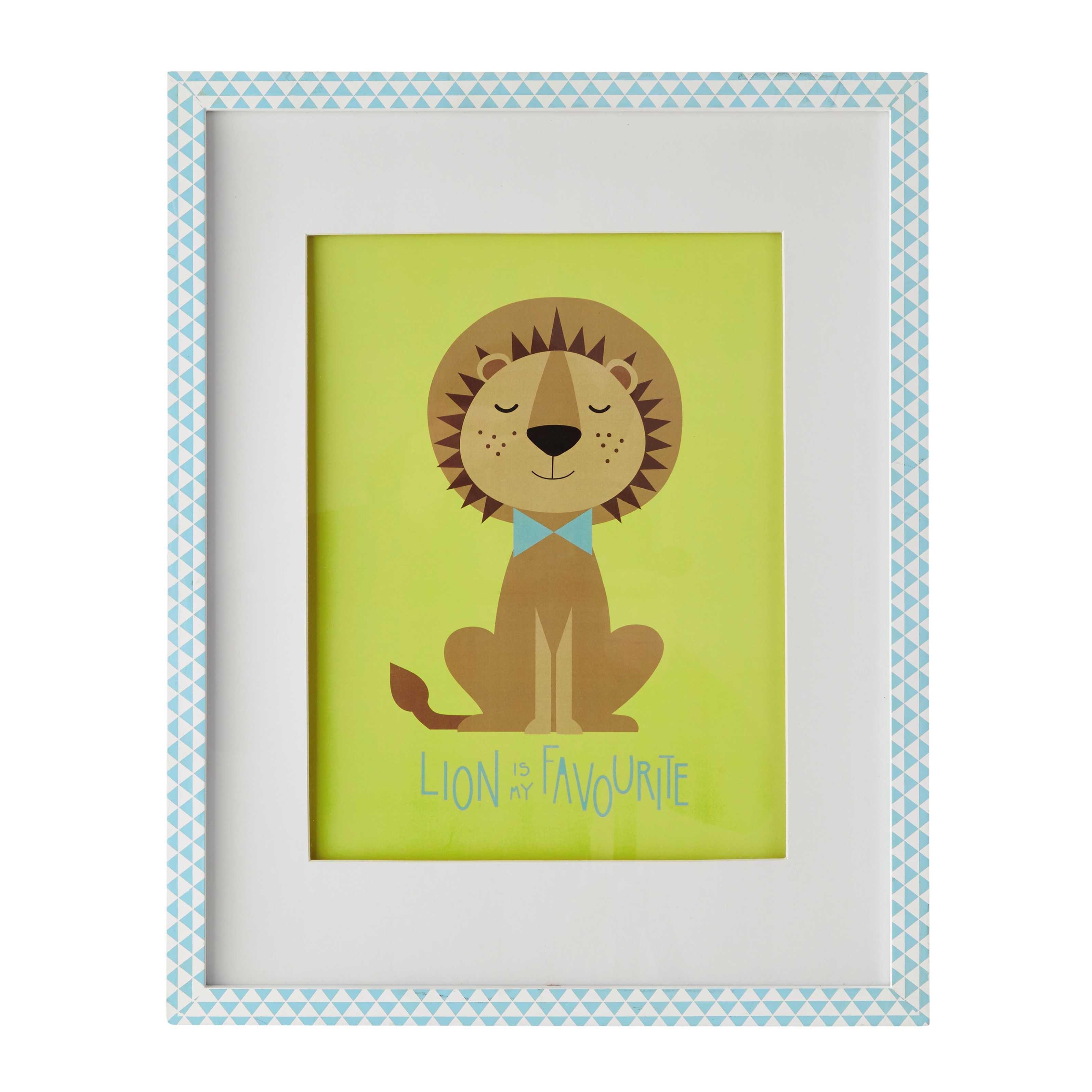 Tableau lion 40 x 50 cm GASTON Maisons du Monde