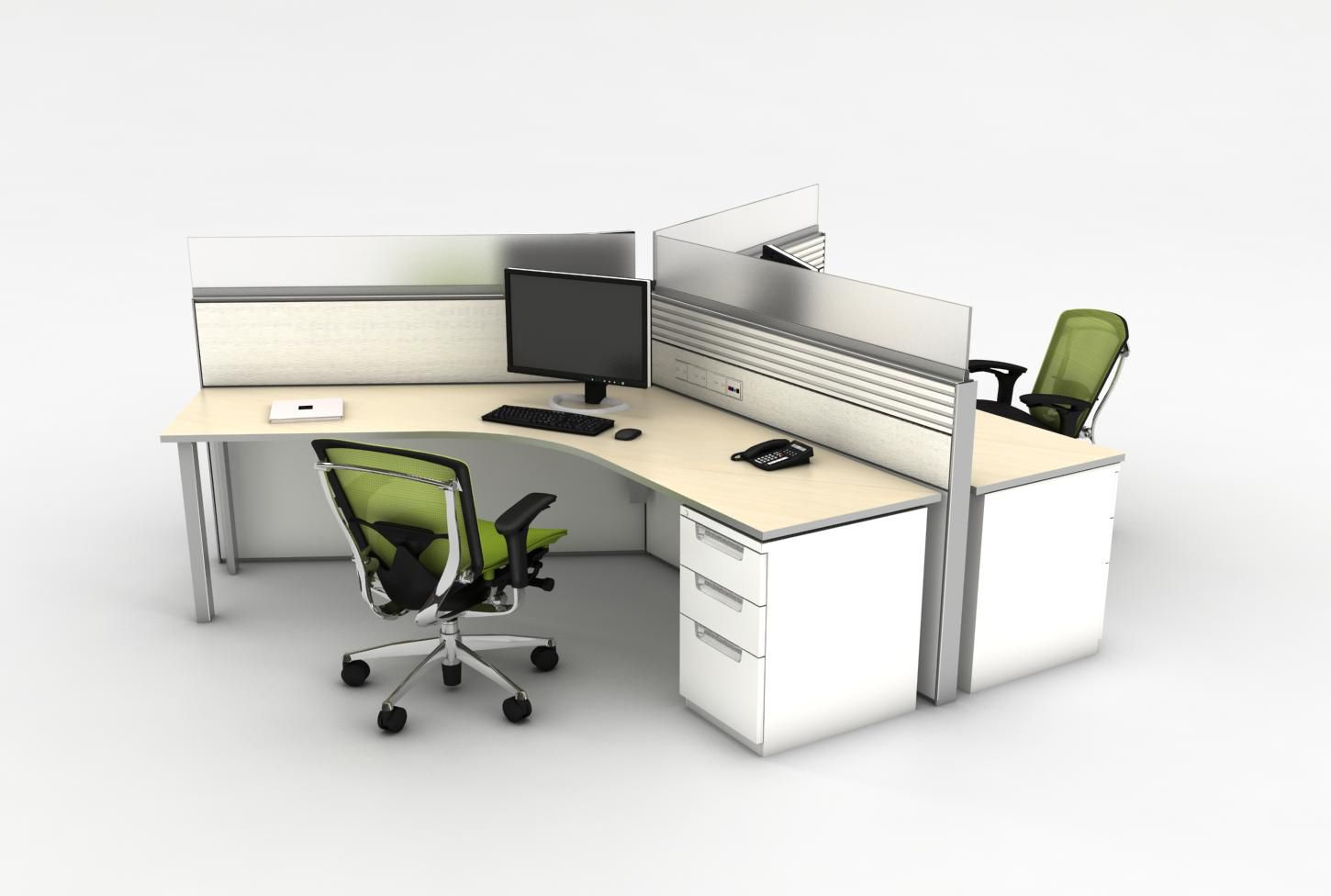 Desk kickstand furniture - Teknion District 120 Degree