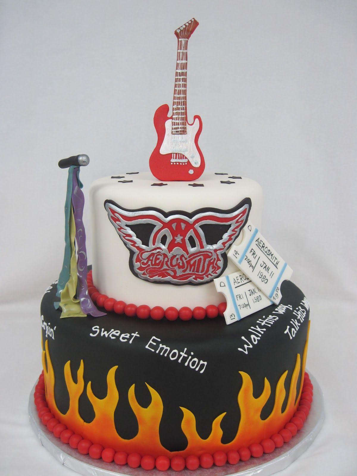 Pin by Pam on Aerosmith Pinterest Aerosmith and Cake