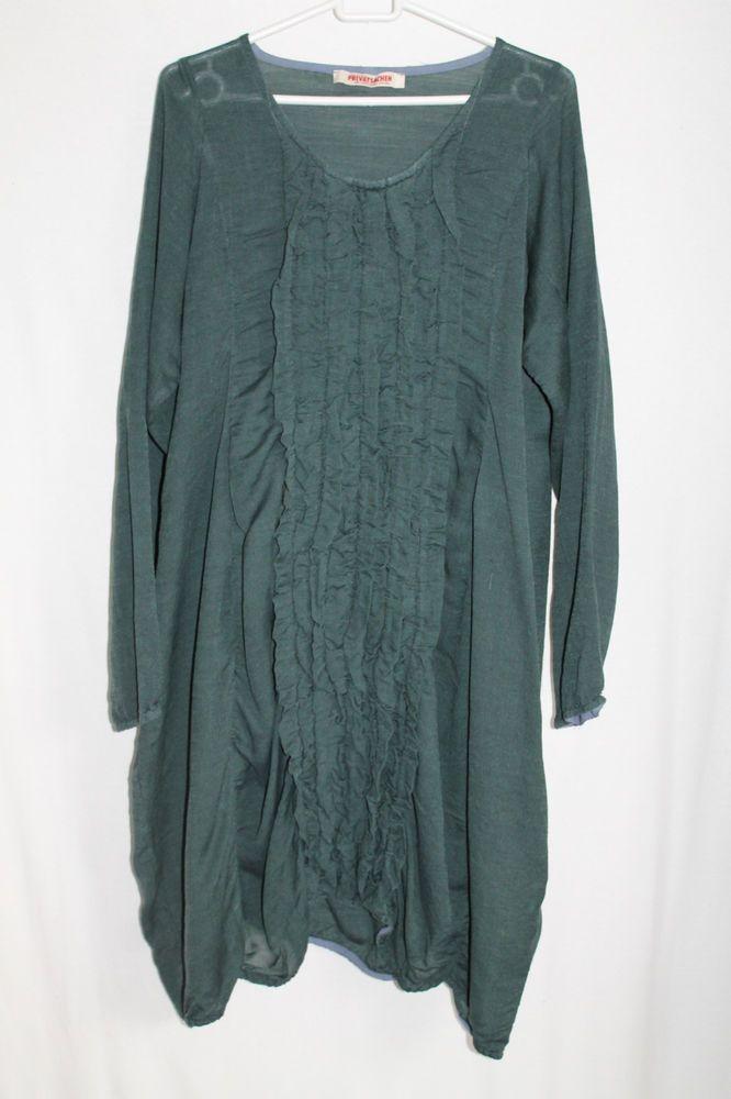 cocon.commerz PRIVATSACHEN FRANSIEGEL Kleid aus Seide/Wolle in graugrün Gr. 1