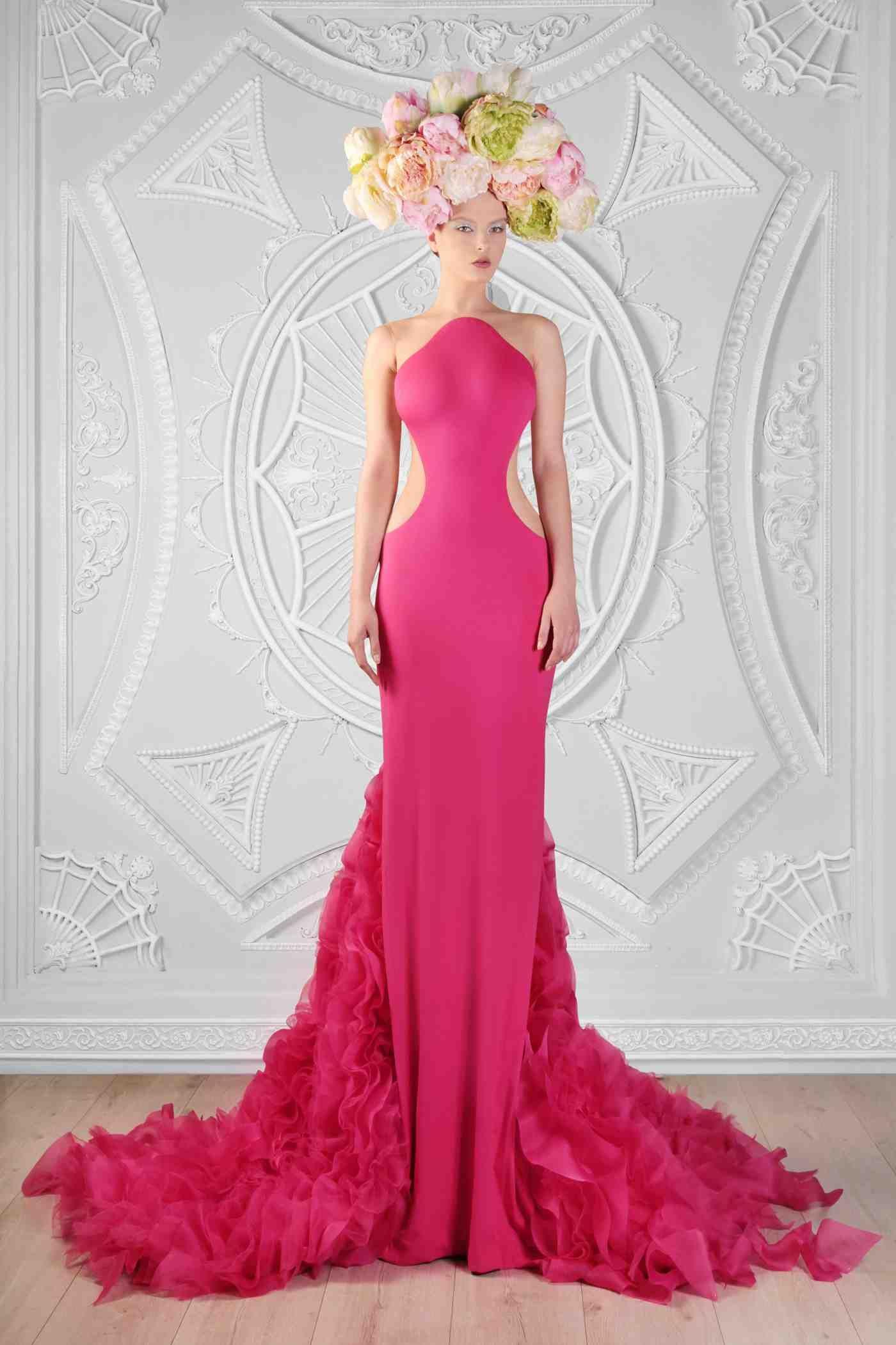 Silk Jersey, and Organza Dress Photographer: Odette Kahwaji Makeup ...