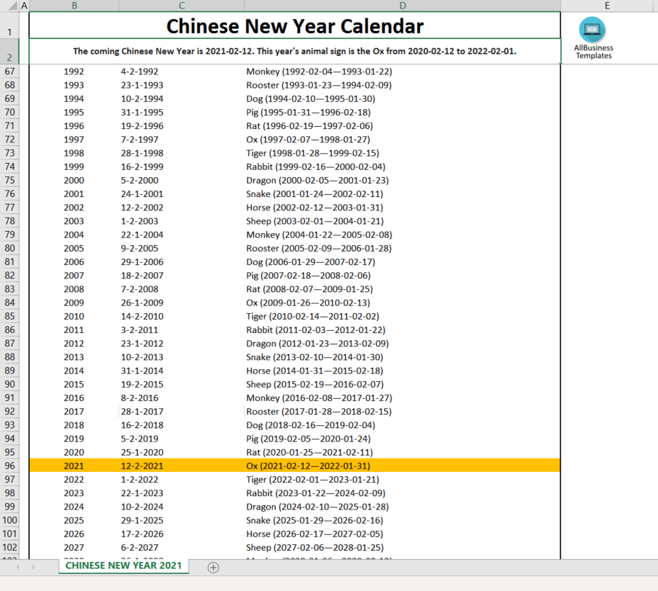 When is Chinese New Year in 2021? Download this free