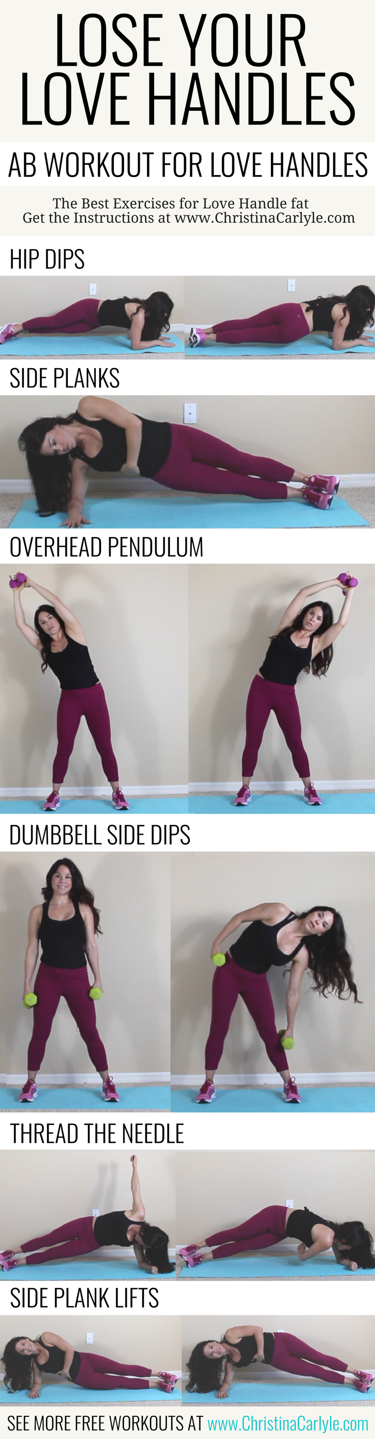 Love Handle Exercises  Pinterest  Exercises Workout and Fat