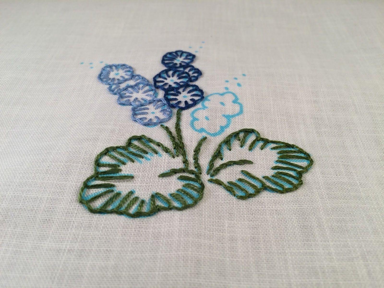 Buttonhole stitch flowers mooshiestitch blanket buttonhole stitch