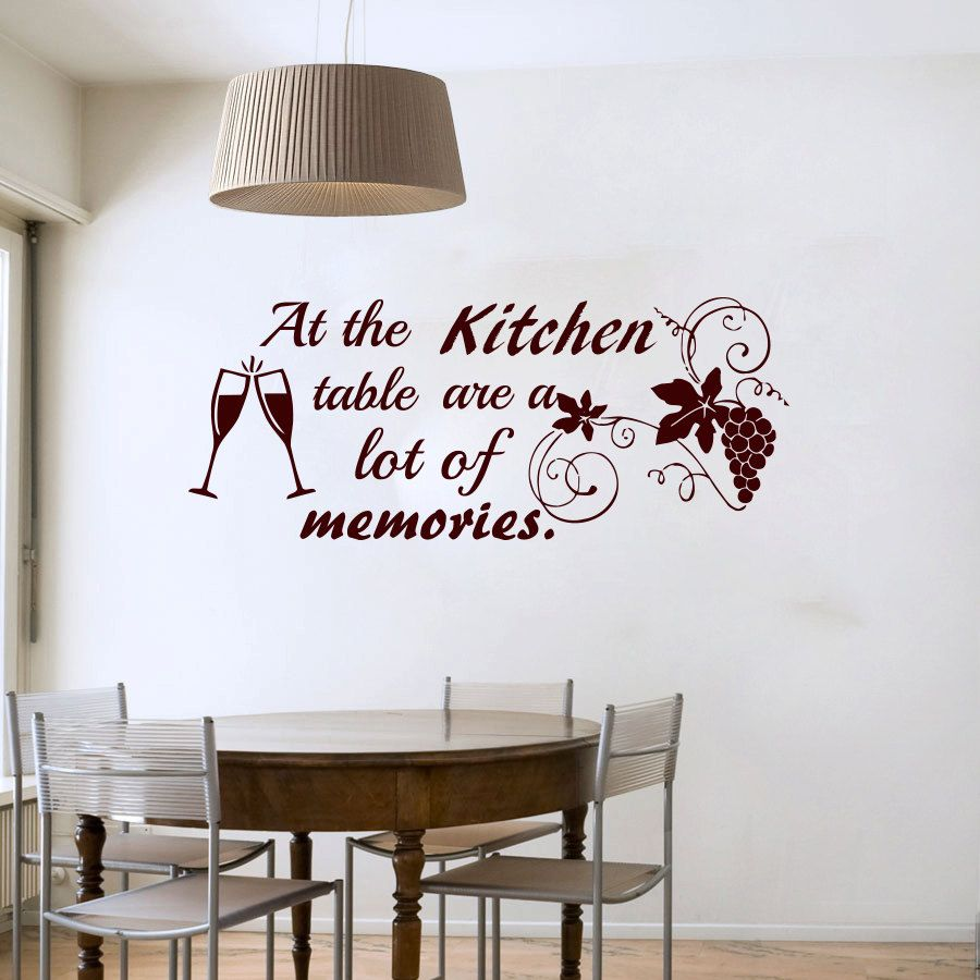 Click to Buy << At The Kitchen Table Are A Lot Of Memories Wine ...