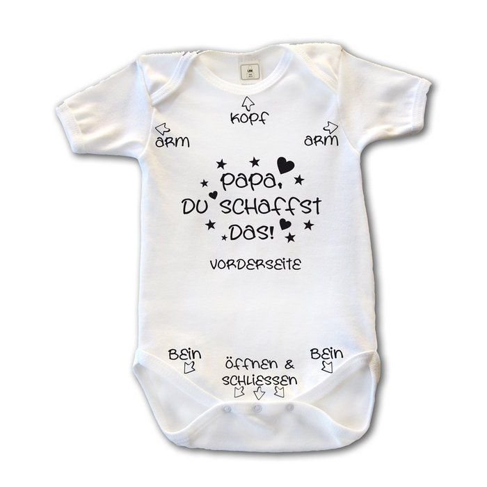 Papa du schaffst das! Baby Body Anzug Strampler  Jeffy Pinx #hellofall