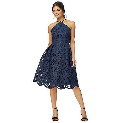 Chi London Navy Kayleigh Lace Dress Debenhams
