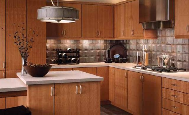 Natural Cherry Kitchen Cabinets natural cherry, slab front cabinets. nice warmth of wood, with
