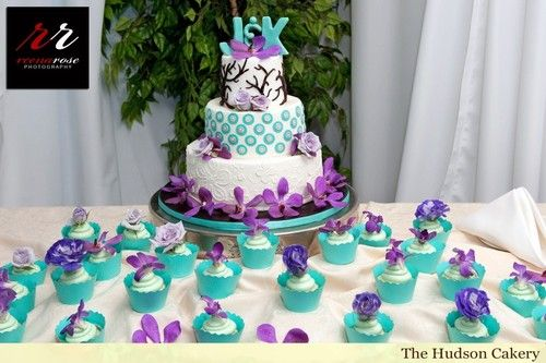 Turquoise Western Wedding Cakes Mauve Table Decoration Pink And Black Reception Tall