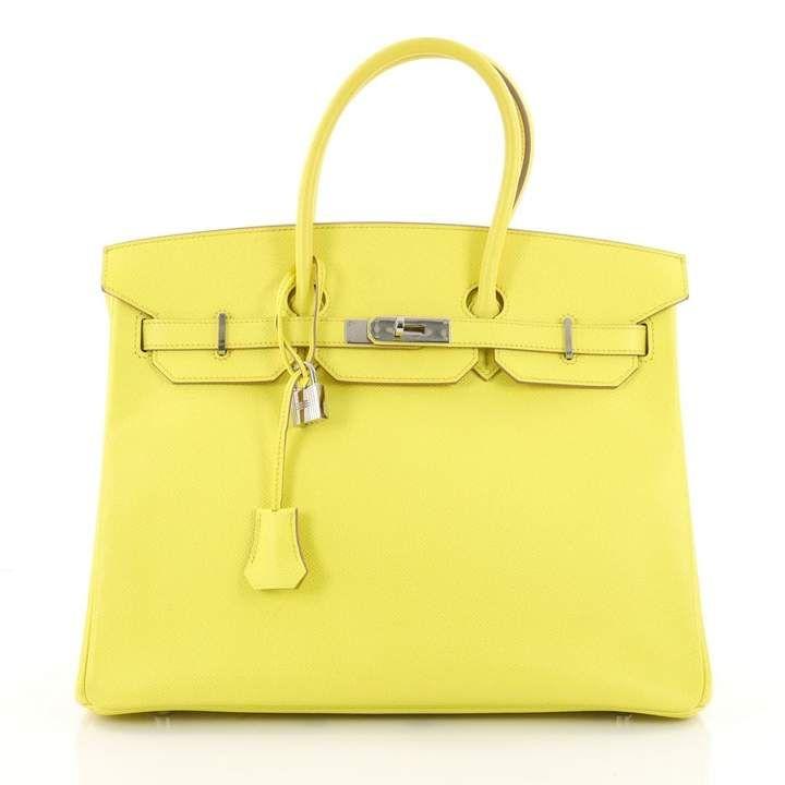 290d4c9f75 Birkin 35 leather handbag | Pretty handbag & bag | Yellow handbag ...
