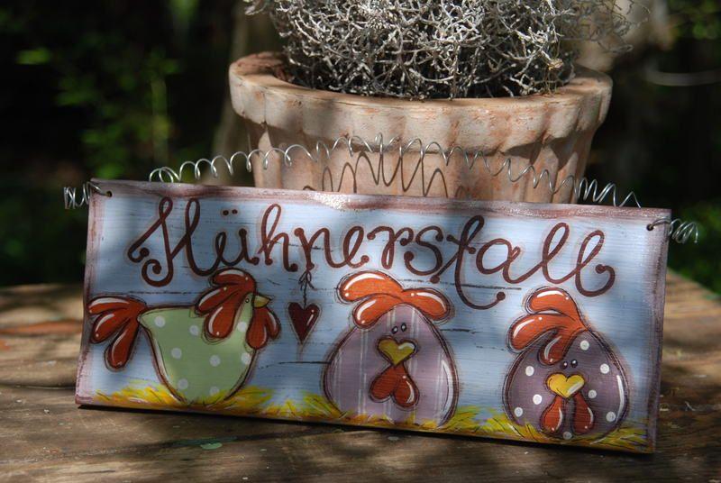Deko-Objekte - Shabby Chic Türschild Hühnerstall - ein Designerstück von my-himmerland bei DaWanda #weihnachtsmarktideenverkauf
