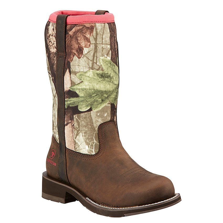 Ariat 174 Women S Fatbaby All Weather Boot Palm Brown