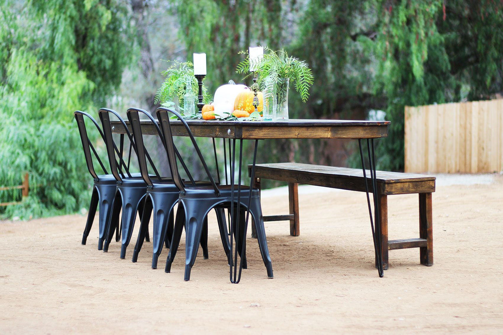Farm table bench rentals in 2020 farm table with bench