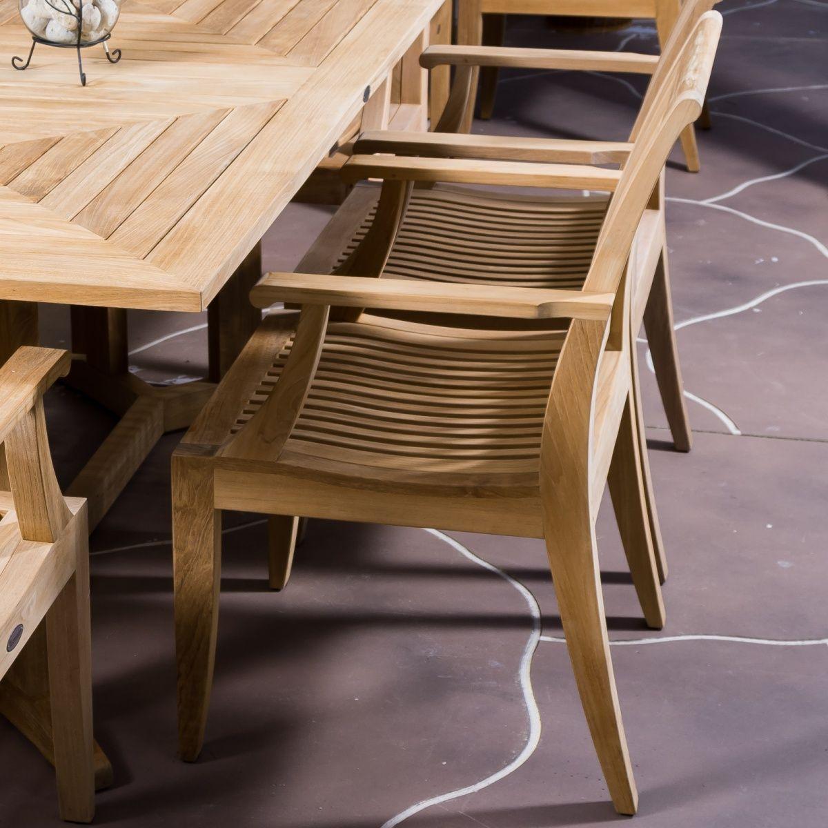 Laguna Teak Wood Dining Chair with Arms