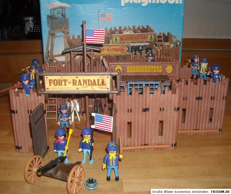 playmobil 3419 vintage 80 s western fort randall boxed lgb. Black Bedroom Furniture Sets. Home Design Ideas