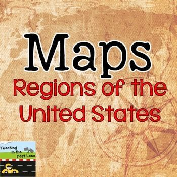 Regions of the United States FoldUp FREEBIE US States Capitals