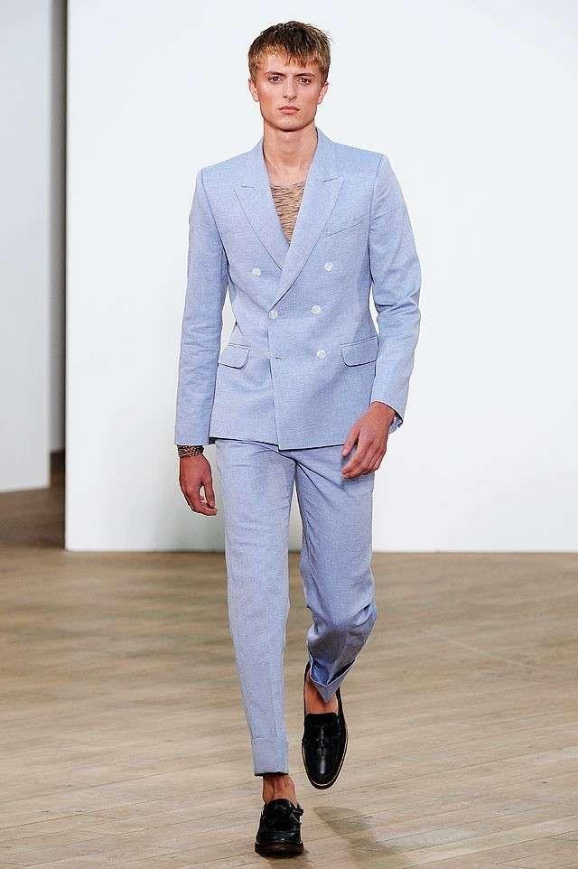 more photos 70059 f7155 Abbigliamento uomo per matrimonio civile - Completo azzurro ...