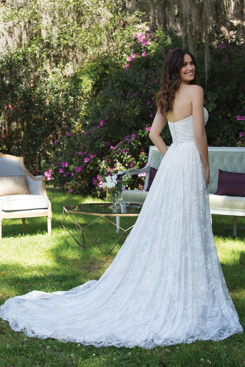 Sincerity chantilly lace aline gown style size