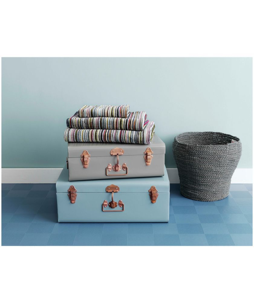 Buy Habitat Small Trunk With Copper Clasps Grey At Argos Co Uk Your Online Shop For Children S Toy Boxes A Storage Trunk Stylish Storage Boxes Grey Storage