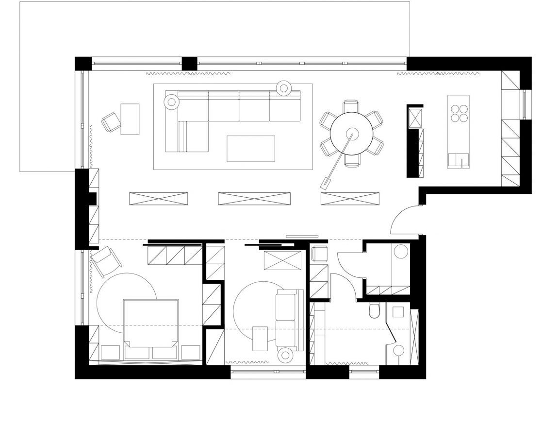 Flat interior design by pl architekci 23