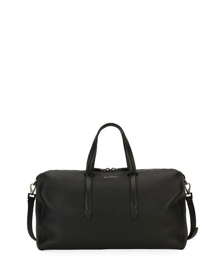 90253a32bdc1 SALVATORE FERRAGAMO Firenze Leather Weekender Duffel Bag