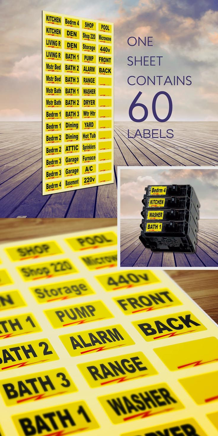 our breaker box labels, a number 1 seller on amazon! tough vinyl