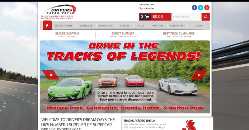 Drivers Dream Days Discount Code For January 2021 At Promocutcode Car Rental Coupons Cars Movie Driving Experience