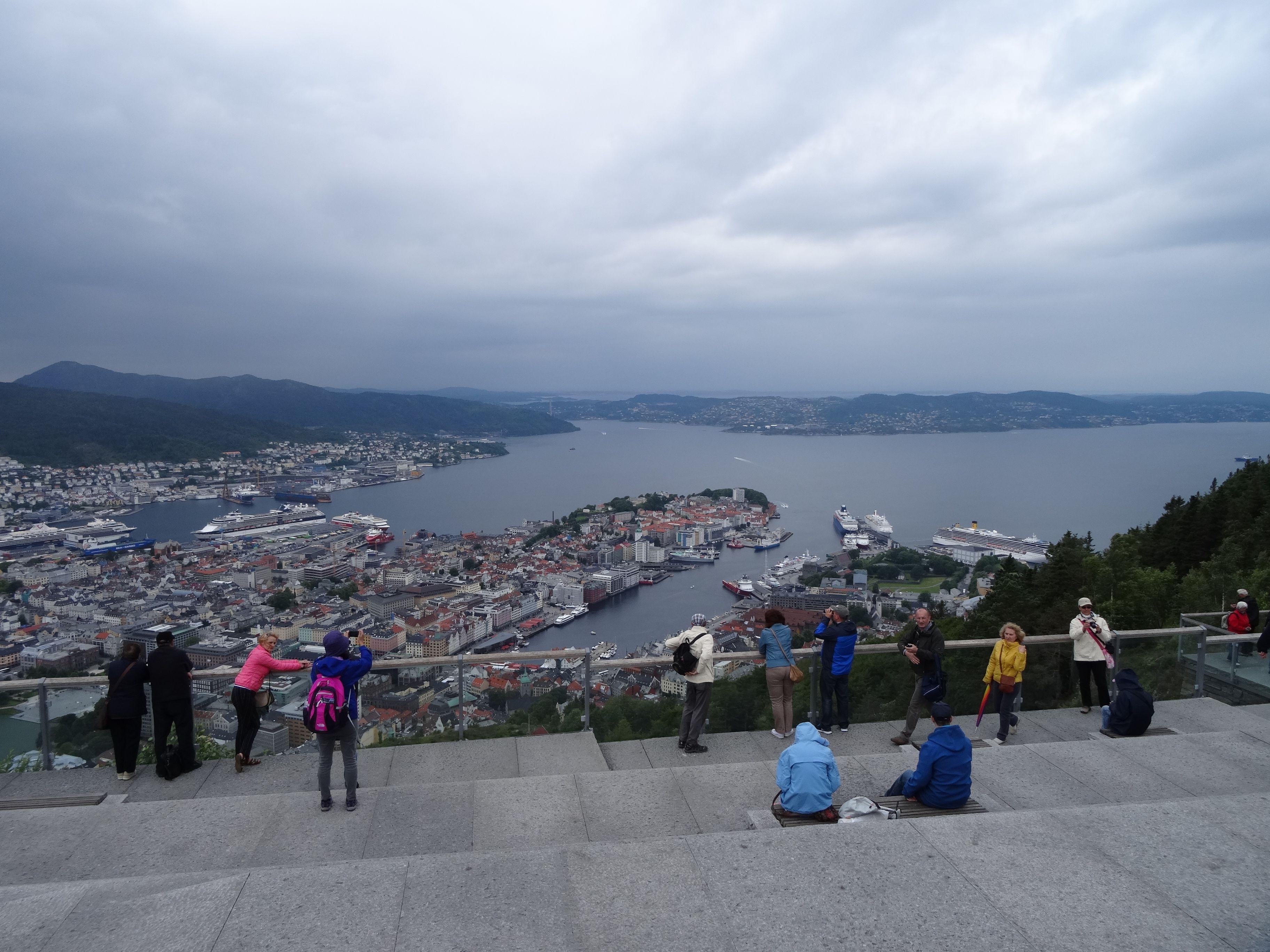 """The View from """"Fløyen"""" in Bergen"""