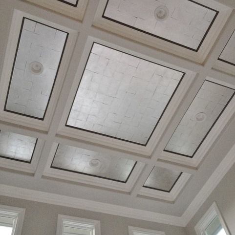 Silver Leaf Ceiling Design Ideas, Pictures, Remodel and Decor