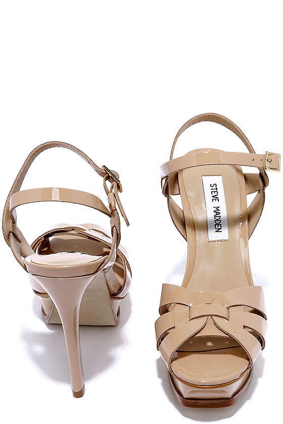 f53ae6b55072 Steve Madden Kananda Blush Patent Leather Platform Heels