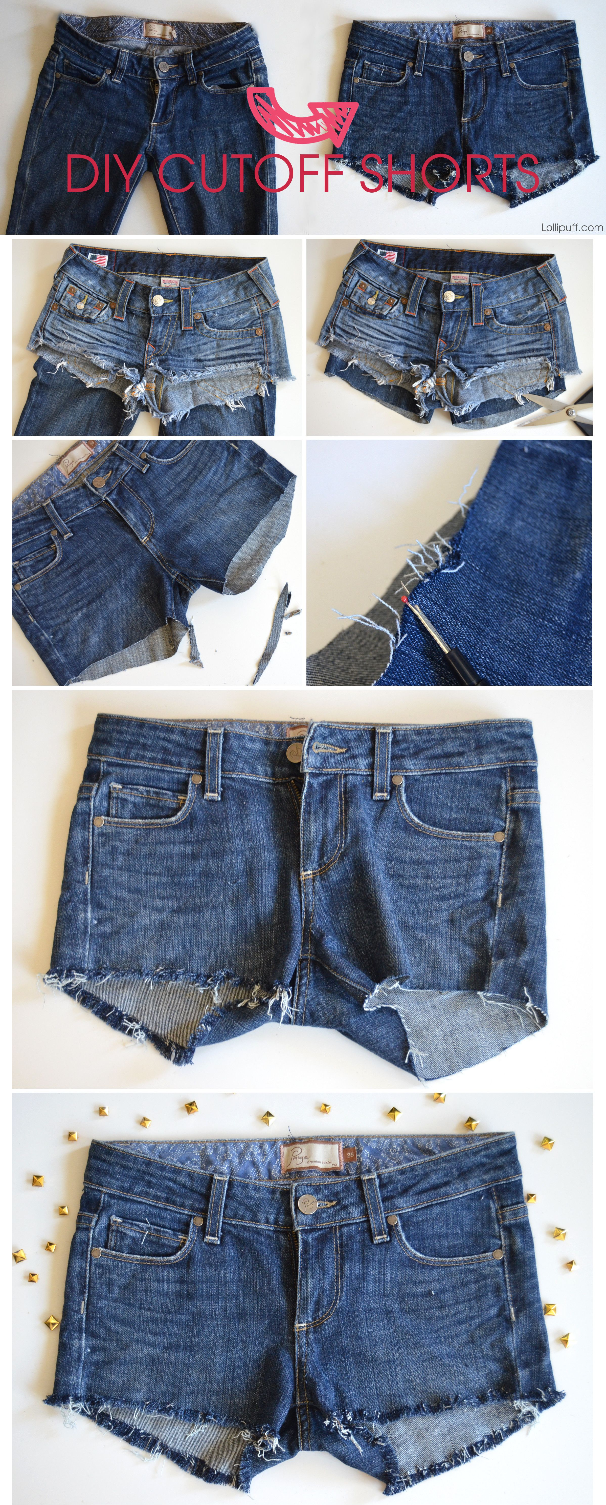 How to make shorts from jeans 33