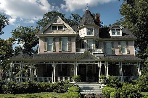 Bainbridge Ga Decatur County Historic District Shotwell Street High Victorian Architecture Light Pink House Victorian Architecture Victorian Homes Pink Houses