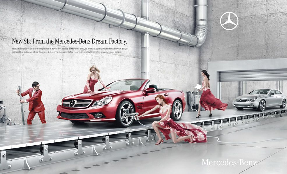Mercedes Benz Dream Factory Advertising Publicidad - Chickens brilliantly featured in mercedes benz commercial