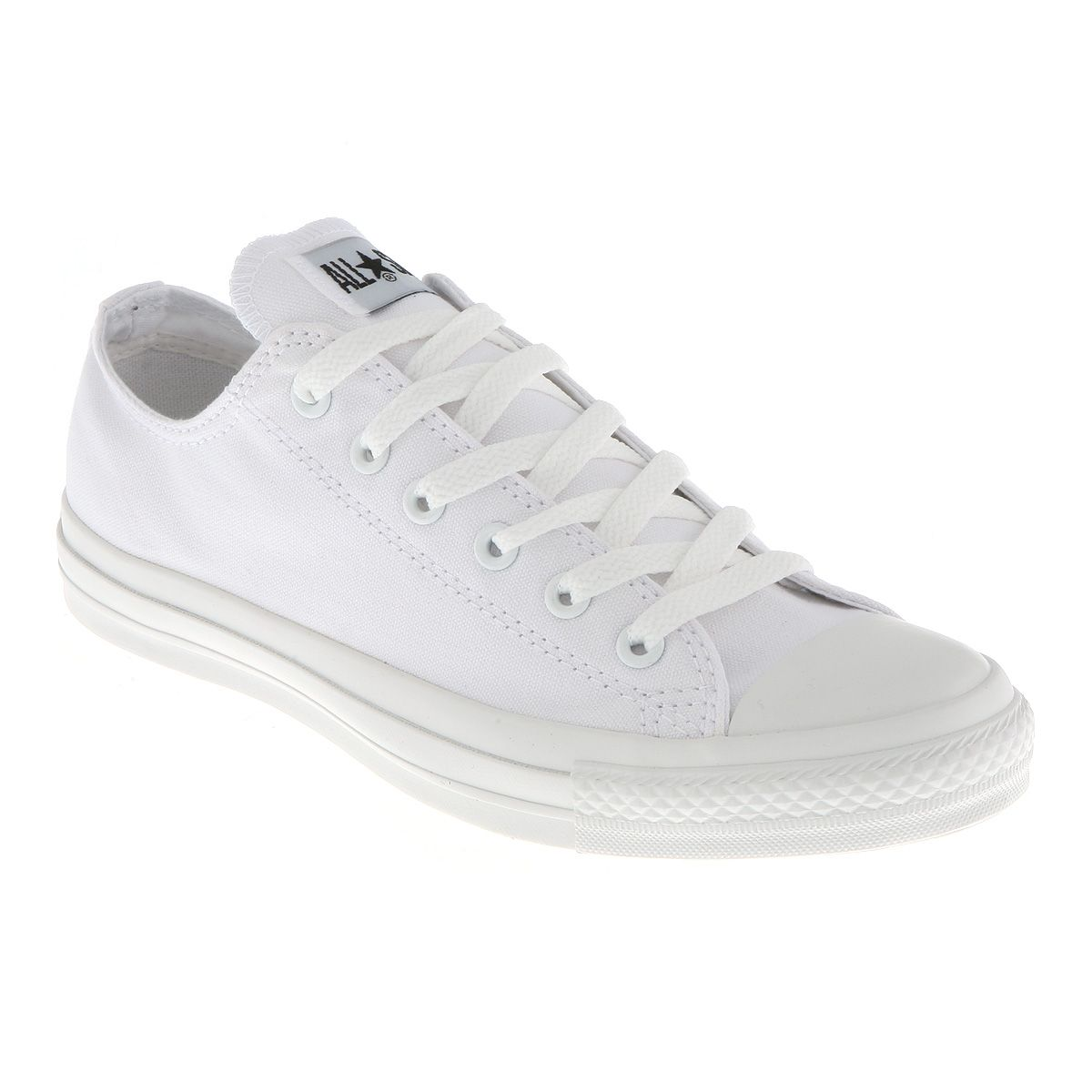 Converse All Star Ox Low White Mono Canvas Exclusive Trainers Shoes