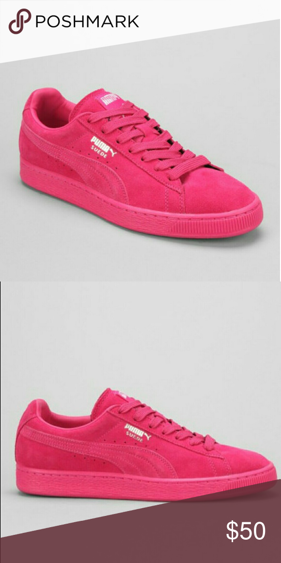 0489fd890dbee1 All pink puma sneakers Brand new never worn. Kids size 5y fits woman s size  6.5 Puma Shoes Sneakers