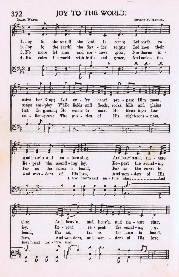 Christmas Music Printables Joy to the World + More