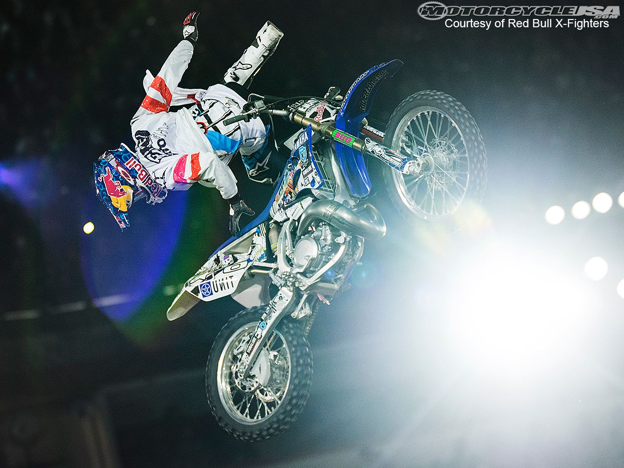 Tom Pages on his way to victory at Red Bull X-Fighters in Mexico City 2013.