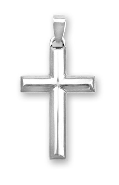 14k white gold large hollow plain polished mens cross 20 inch chain 14k white gold large hollow plain polished mens cross 20 inch chain included aloadofball Gallery