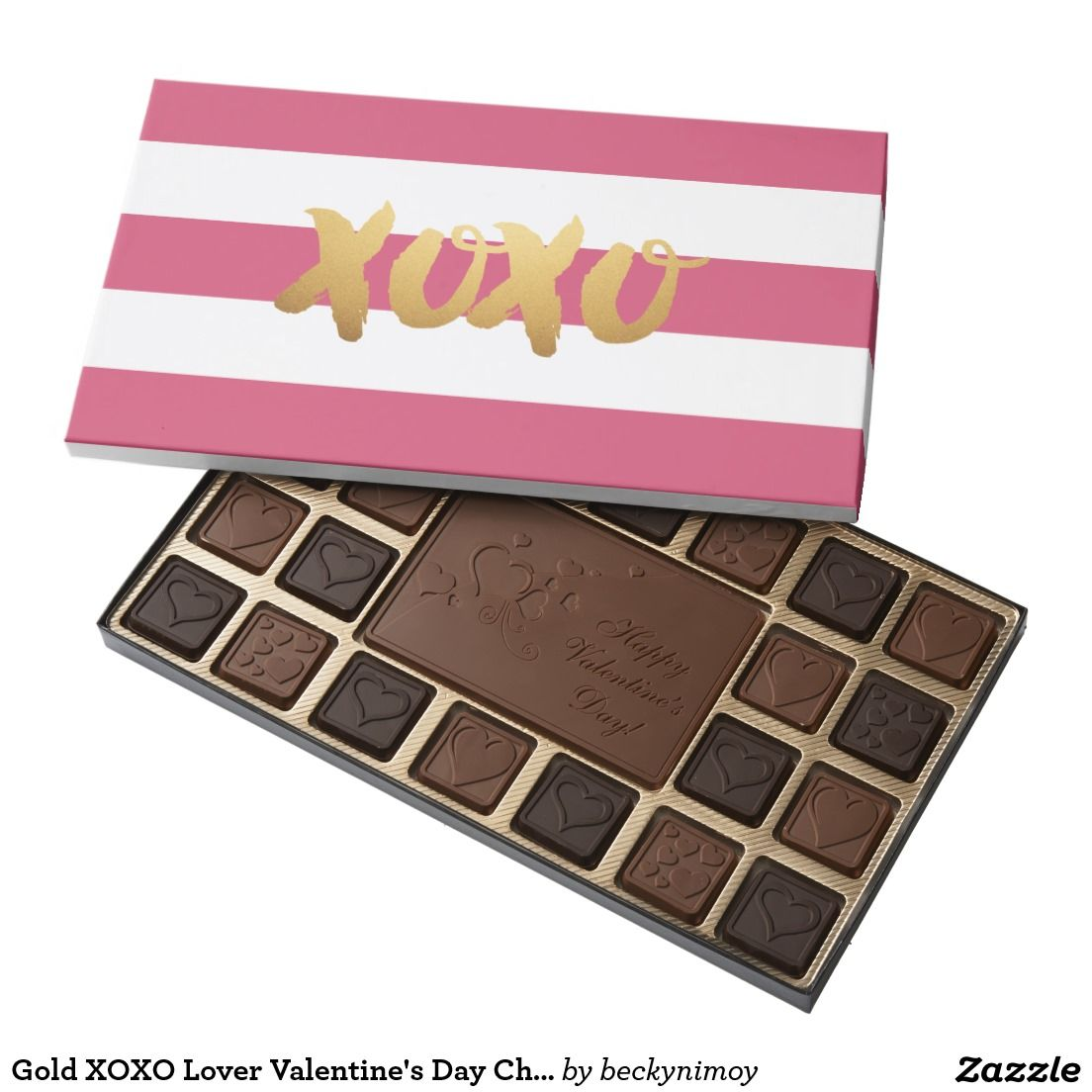 Gold Xoxo Lover Valentine S Day Chocolate Box Chocolate Boxes