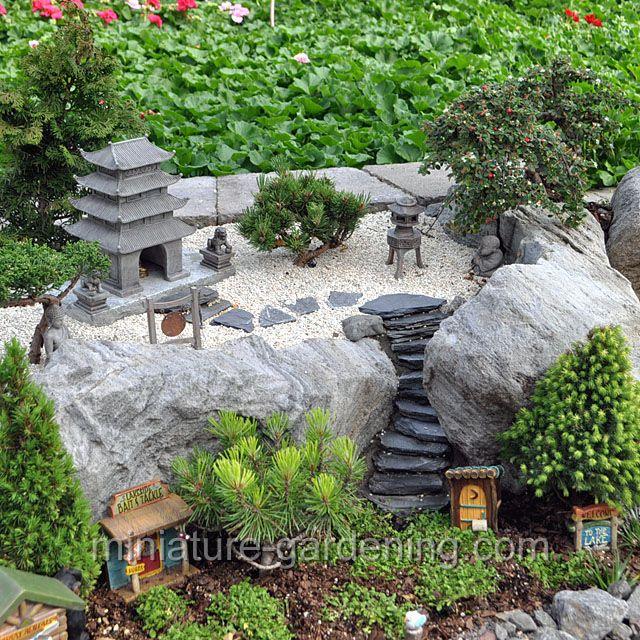 Pagoda Garden On Cliffs: #fairygarden #fairyhouses | Container Fairy