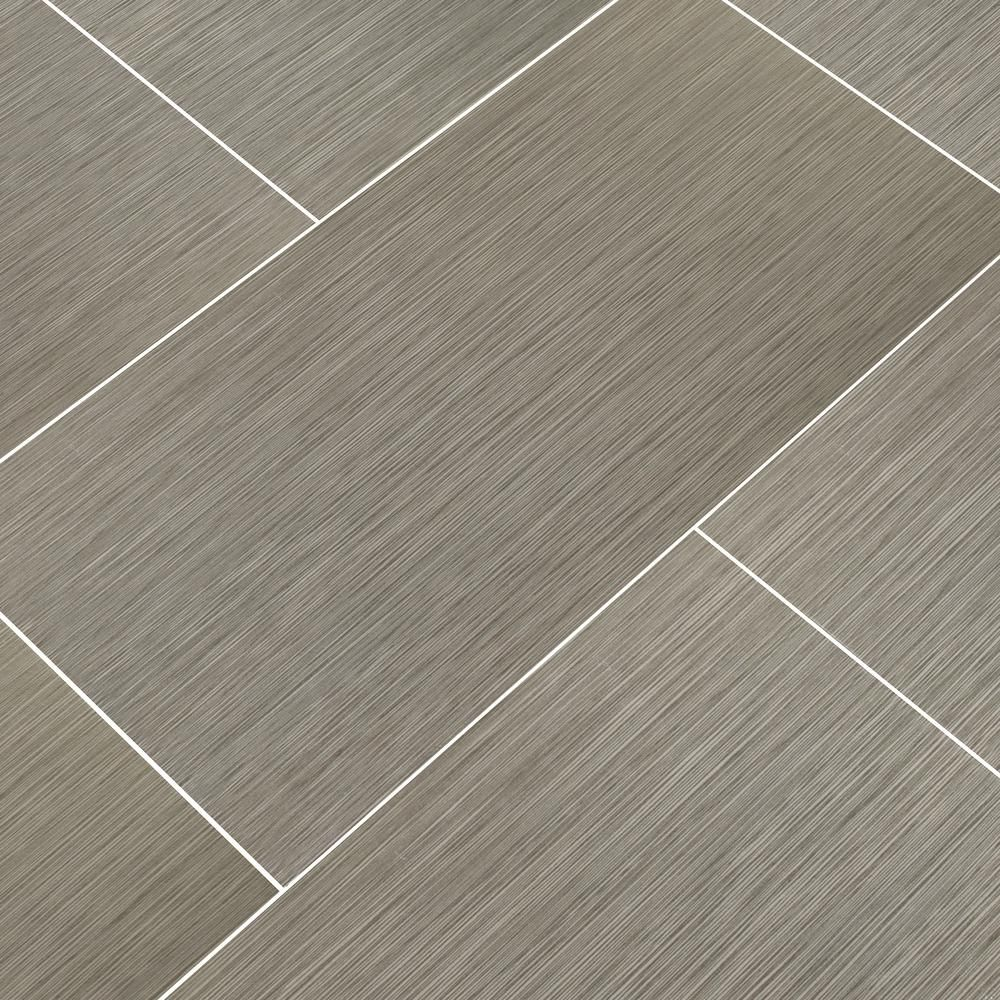 Msi Metro Charcoal 12 In X 24 In Glazed Porcelain Floor And Wall Tile 16 Sq Ft Case Nmetcha1224 The Home Dep Porcelain Flooring Flooring Wall Tiles