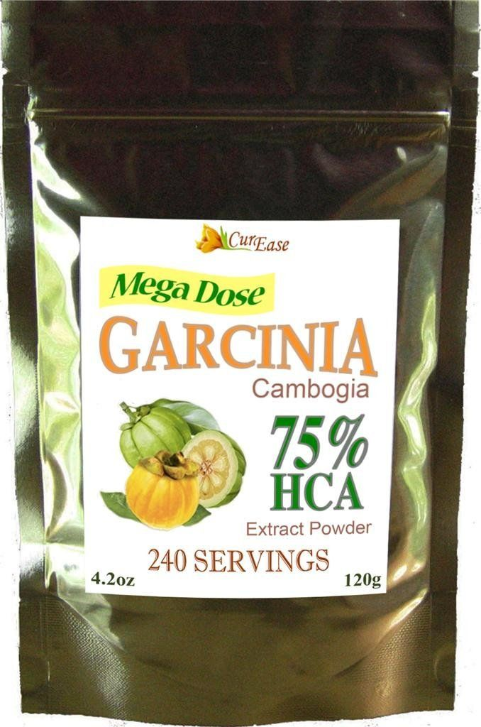 Curease Garcinia Cambogia Gummi Gutta 75 Hca Powder 4 2oz 500mg