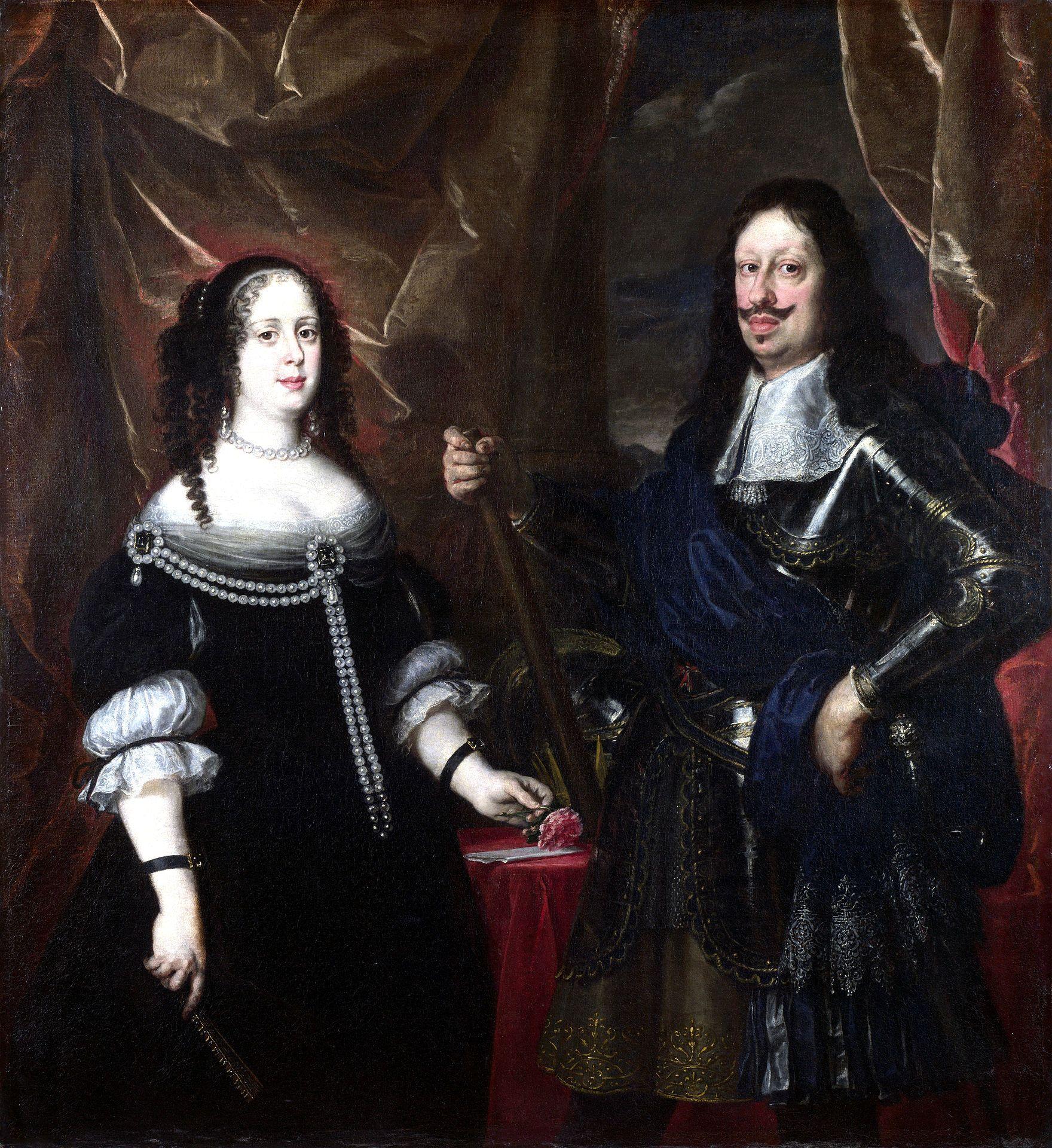 Vittoria Della Rovere e Ferdinando II de' Medici, madre e padre di Cosimo III