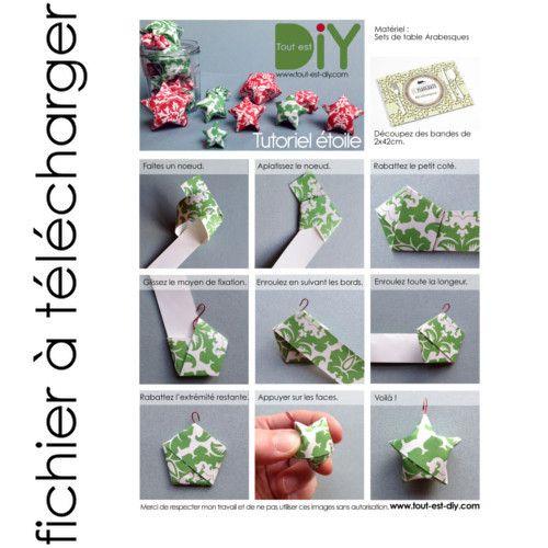 Diy tuto gratuit mini toile noel pinterest etoilee tuto gratuit et tuto - Tuto etoile origami ...