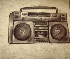 Boombox sketch | Draw ...