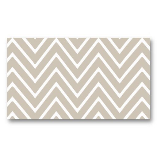 Beige and White Chevron Pattern 2 Business Card | Chevron patterns ...