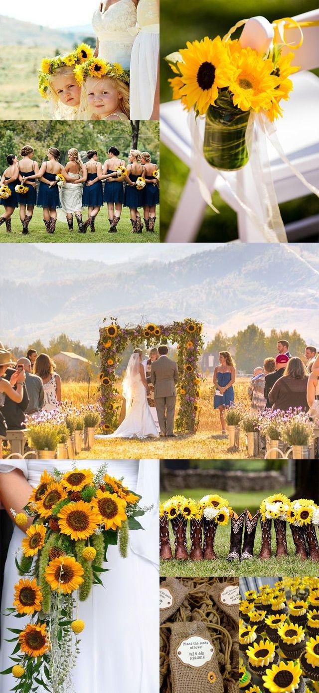 Sunflower Weddings Wedding themes Wedding arbors Wedding decorations