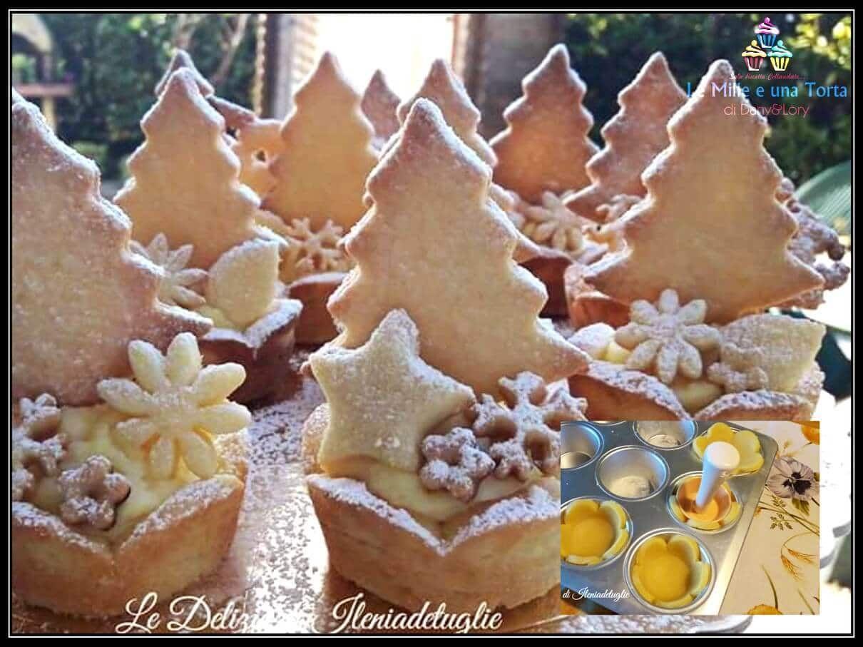 Dolci Natalizi Coreografici.Dolci Di Natale Cestini Di Pasta Frolla Con Crema Pasticcera Ricetta Ricette Di Dolci Natalizi Dolci Dolci Di Natale